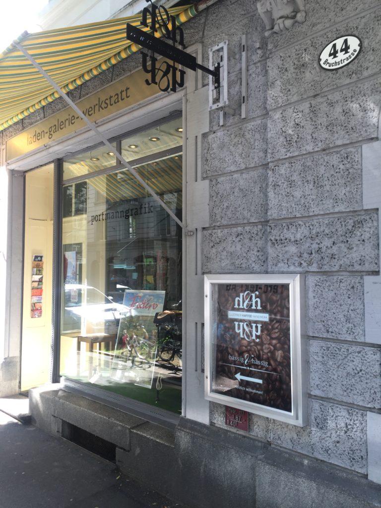 Das Lokal von portmanngrafik und hässig & hässig an der Bruchstrasse 44